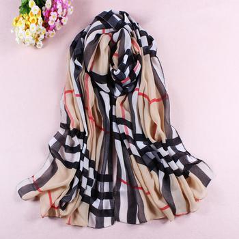 Free Shipping Promotion Girls Fashion Print Scarf,Woman Stripes Style Printing Scarf,Hotsale Print Chiffon Silk Scarf 3Pcs/Lot