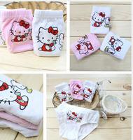 hello kitty cartoon Cotton Kids Panties Underwear For Children Baby Under Briefs Girls Shorts Knickers Underpants 12 PCS/Lot