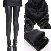 Wholesale!  winter mink lengthen goatswool  faux leather legging matte plus velvet warm ankle length pants  Free Shipping!!