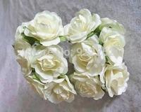 mulberry paper flower artificial handmade roses bouquet,diy craft scrapbooking accessories&decoration for garland&favor box