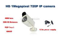 4pcs/lot  1.0 Megapixel Full HD Water-proof Network Mini  Camera, 720P IP CAMERA Support ONVIF, Free shipping