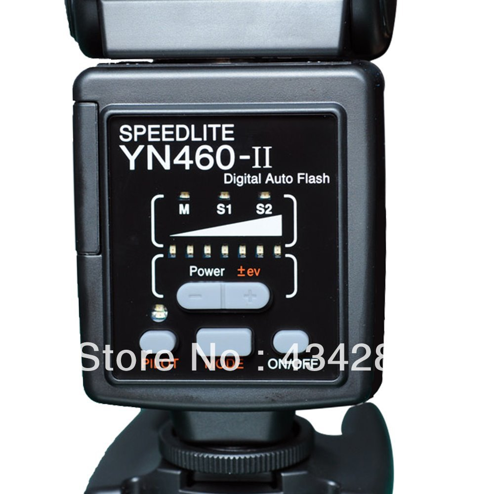 YN460II flash speedlite for O lympus E5, E3, E30, E300, E620, E520, E420, E450, E-P2, E-PL2, E-PL1 GN38 Metal Foot Free HK post(China (Mainland))
