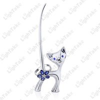 Delicate Long Neck Swan and Cat Style Jewelry Display Ring Holder, Chopsticks Holder,Novelty Gift, Home Decoration Free Shipping
