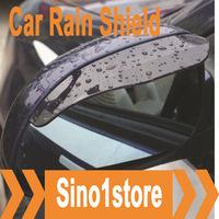 Free shipping! 10pcs/lot flexible car rear view mirror Rain shield shade---Color Transparent