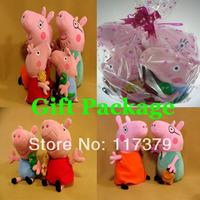 Peppa Pig Family 4PCS High Quality Washable 30cm Dad & Mon 19cm Peppa & George Cute Toys Toys & Hobbies Dolls & Accessories