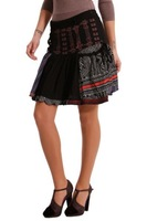 2013 new spain brand patchwork desigual skirts women pecos 36F2731 36 38 40 42 44 free shipping