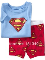 FREE SHIPPING-- baby nightwear short sleeve sets pajamas set leisure wear boy nightclothes cartoon cars design 1set/lot