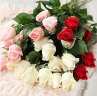 10pcs/lot real touch artificial flower rose home decoration artificial flower wedding party decoration