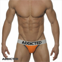 New Hot ES ADDICTED  Popular Brand Men's Underwear Jockstrap Thongs,S,M,L,2Pieces/Lot,Cotton Material .