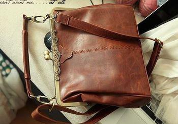 New Arrival 2014 Retro Vintage Women Messenger Bags Shoulder Purse Handbag Cross Body  Leather Bag Satchel Free Shipping
