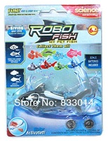 Newest Kids Toys Children Gift swimming shark ROBO SHARK Robo fish Water Activated Magical Turbot Fish Free DHL 240pcs/lot
