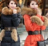 Autumn -Summer Outerwear & Coats Women Long Down & Parkas Women's Down Jacket Winter Artificial Fur Coats XXL Free Shipping c152
