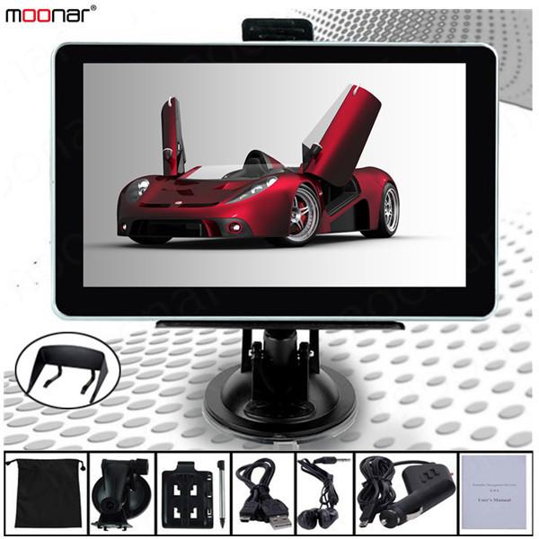 7 inch LCD touch screen GPS Car Navigation MTK 4GB Capacity UK EU AU NZ Maps Speedcam POI with Sunshade DA0552 Free Shipping 55(China (Mainland))