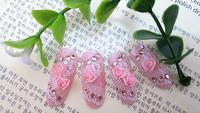 new 24*Artificial Noble Design 3D Acrylic False Nail Fake  Fashion nail plate.Nail art products