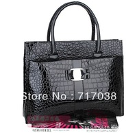 Free shipping Special new stone pattern snakeskin pattern handbag bag crocodile pattern retro anyway two single rooms handbag
