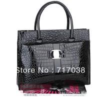 Free shipping Special new stone pattern snakeskin pattern handbag bag crocodile pattern retro anyway two single rooms handbag