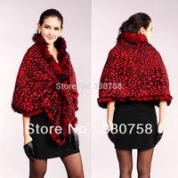 Free shipping Cashmere + Raccoon Fur Collar Leopard Warm Thick Women Shawl Scarf Autumn Winter 2013 Latest Style 8001 8002