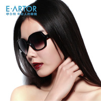 Eartor 2013 women's the trend of fashion sunglasses big box fashion black brief sunglasses