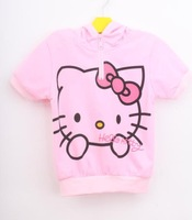 New arrival Baby Girls Boys Cute Hello Kitty Suits Children Clothing Sets Short Sleeve T-shirt +Pants Kids Suits