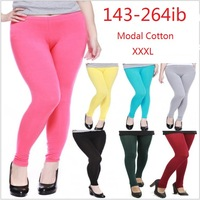 Free shipping 2013 autumn women's fashion plus size leggings, fat woman big size modal cotton candy color legging 9-MDR-XXXL