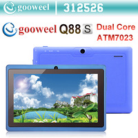 Gooweel 7inch Q88s ATM7023 dual core tablet pc android 4.1 RAM DDR3 512MB ROM 4GB Dual camera HDMI WIFI OTG FreeShipping