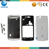 White Original Full Housing Cover For Sony Ericsson Xperia Arc S LT18 LT18i LT15i LT15 X12 Housing + Free Tools  Free Shipping