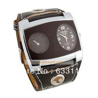 free & drop shipping 1pcs/lot retail 2014 New arrived Hot Sales fashion men women leather brand quartz gifts wrist watch