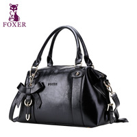 FOXER new 2013 women messenger bag cowhide genuine vintage handbag women leather handbags shoulder bags designer brand totes