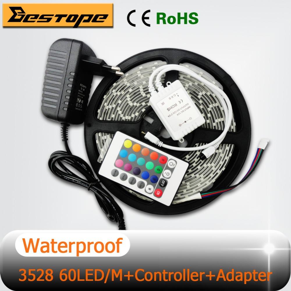 discount waterproof rgb 12v 3528 led strip light 60leds m 5m lot 1roll. Black Bedroom Furniture Sets. Home Design Ideas