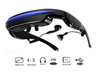"52"" 4:3 Virtual Screen Video Glasses Portable Cinema Theater Movie Glasses HD display Eyewear with 4GB Memory"