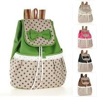 New Arrival 2014 Fashion Women Canvas Backpacks Colorful School Bags Mochila Rucksacks Free Shipping HB01