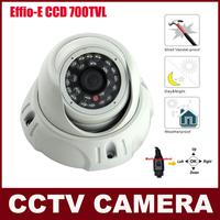 1/3'' SONY EFFIO-E  CCD SENSOR CCTV Camera 700TVL Night Vision Vandalproof Dome Security Camera Security With OSD Menu