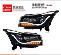 FOR CHEVROLET CRUZE LED HEAD LAMPS/ HID FRONT LIGHTS 2009-2012/ A8/ Black basement