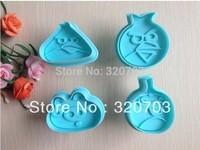 4pcs/set Free shipping 4Birds pattern shape biscuit machine plunger paste sugar craft decoration 020047