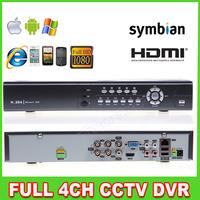 4CH DVR H.264 CCTV DVR,960H  Full D1 realtime recording Support 3G/WIFI,1080P HDMI