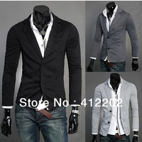 BEST SELLER! Mens Stylish Slim Fit Knitting Blazer Top Jacket Outwear M-XXL