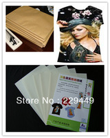 2013 new dark a4 color inkjet heat transfer paper/trasnfer printing papr for textil fabric and silk velvet  100 sheets