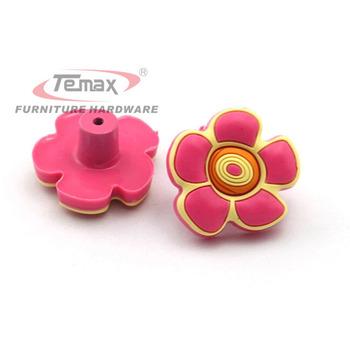 Eco-friendly Cute Cartoon Flower Cars Kids Furniture Bedroom Dresser Drawer Handles Cabinet Knobs