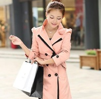Autumn trench women outerwear women's trench new big brand windbreaker Korean women were thin coat Ms.+Free Shopping