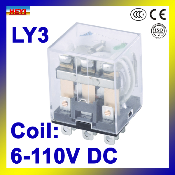 Coil voltage 6V-110V DC LY3 General electrical Relay HH63P power relay(China (Mainland))