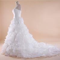 Vestido De Noiva Custom-Made Sexy  Puffy Ball Gown Wedding Dresses 2014 Bridal Ball Gowns Robe De Mariage Casamento Little Bride
