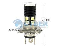 New Energy Saving H4 Cree Q5 SMD5050 12 LED Car Head Light Bulb White Lamp DC 12V-30V TK0264