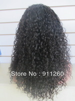 """Free Shipping! 20"""",Deep Bouncy Curly,Curl Human Hair Glueless Lace Front Wig In Stock"""
