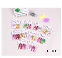 Free Shipping 4pcs/pack Fashion Popular Cartoon Pattern Children Hair Accessories Hairpin Headband CL0341