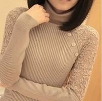 New Korean Women's Turtleneck Sweater Medium-long Pullover Knitted Sweater Autumn Winter Thickening Sweater Warm