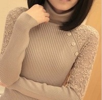 New Korean Women's Turtleneck Sweater Medium-long Pullover Knitted Sweatshirts Autumn Winter Thickening Sweater Warm