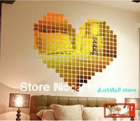 100 PCS 2CM Acrylic Crystal mosaic wall sticker decoration wallpaper mosaic  creative DIY  wall sticker decorative mirror mosaic