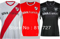 Hot Sale 13/14 River Plate black 75 anniversary edition soccer football jersey, top thai quality soccer uniforms embroidery logo
