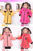 nwt girls fashion cotton-padded outerwear thickening coat girls wadded jacket children clothing cute jacket