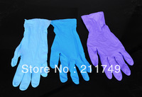 Free shipping disposable nitrile gloves (thin) food glue gloves bowl glue medical disposable gloves 100pcs/box